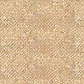 Small Hawaiian Lauhala Weave-light tan