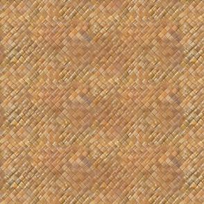 Small Hawaiian Lauhala Weave-dark Honey