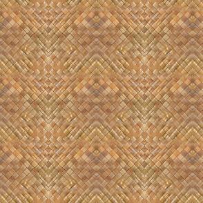 Small Pattern Lauhala Weave-Dark honey