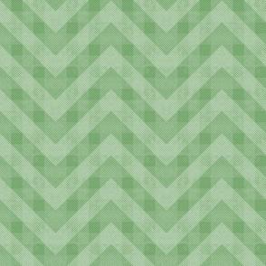 Vintage Green Chevron Pattern