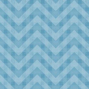 Vintage Blue Chevron Pattern