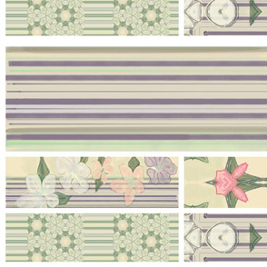 Spring Dawn Collage with Stripes