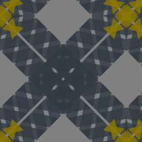 Ribbon X - Gray + Yellow