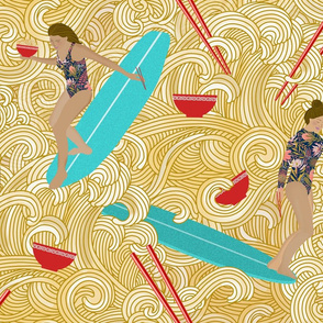 RAMEN SLIDER EDGE with Protea bathingsuit
