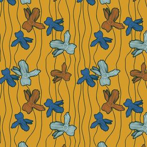 FloralLines - mustard