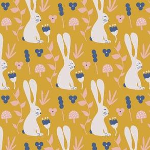 Garden Bunny - mustard