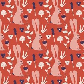 Garden Bunny - pink