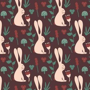 Garden Bunny - brown