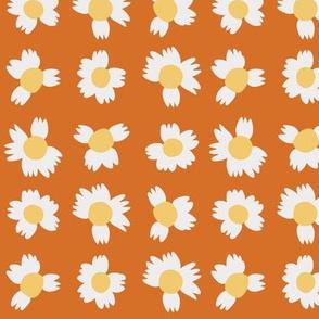 Itty Bitty Flowers - Orange
