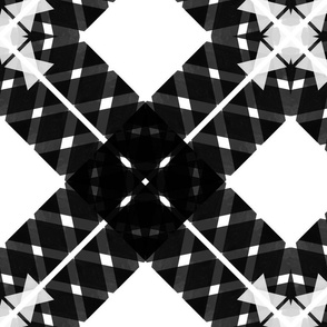 Ribbon X - Black + White