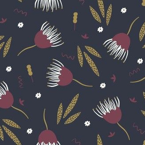 Funky Floral - Navy