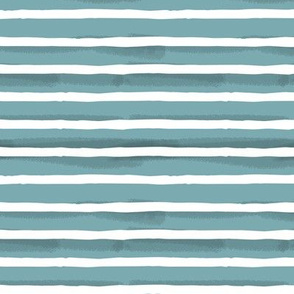 Teal Watercolor Stripes { small }