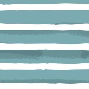 Teal Watercolor Stripes { large }