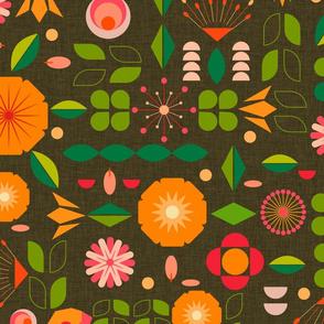 Verdure- Mod Scandi Florals- Large Scale