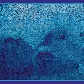 Aqua Iceberg One Yard Scarf 54x36