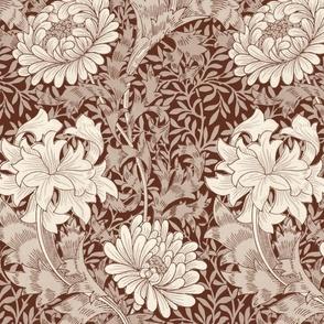 William Morris ~ Chrysanthemum ~  Cosmic Latte on Wood Island Road