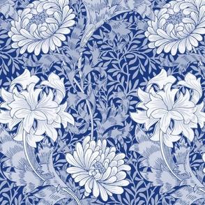 William Morris ~ Chrysanthemum ~  Willow Ware Blue and White