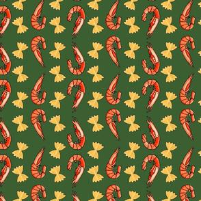 Prawn Bowtie Zigzag Green
