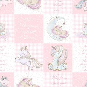 Unicorn patchwork pink