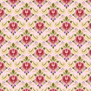 Folk Art Floral Pink