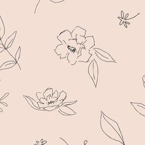 Floral Outlines (pink) - L