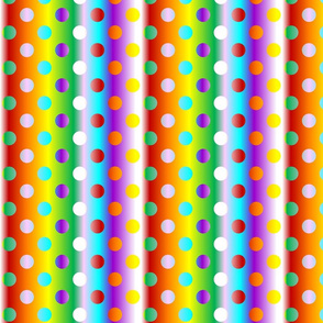 Grande 8 chakras colour gradient dots