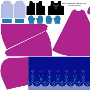 JoyfulRose Anna Dress and Cape for 11 inch Doll