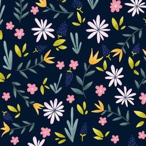 Spring Flowers-Dark