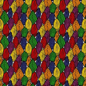 Vagina Fabric in Rainbow, Small