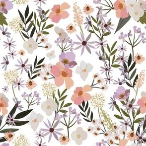 "7"" Meadow flowers -White"