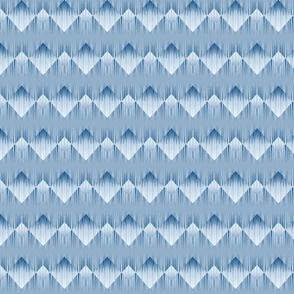 Trippy line art in blue