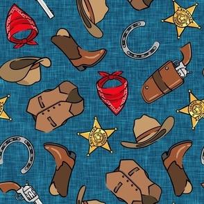 Cowboy - western - dark blue - LAD20