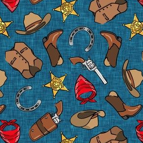 (small scale) Cowboy - western - dark blue - LAD20