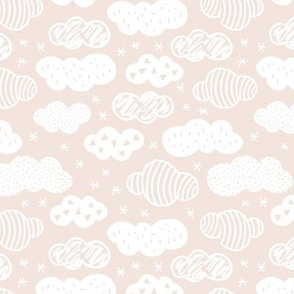 Little dreamy clouds abstract scandinavian minimal style sky design nursery soft beige sand nude neutral