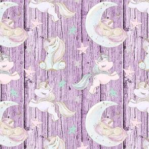 unicorn star purple wood