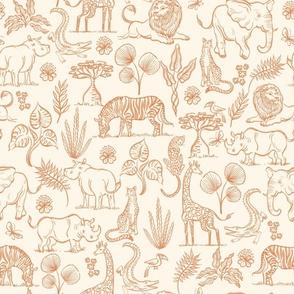 Watercolor Safari Adventure - Toffee