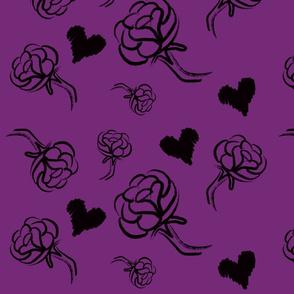 Black Roses on Purple
