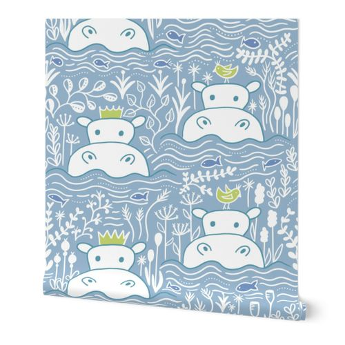 Hippo Swimmers - Blue (Lg)