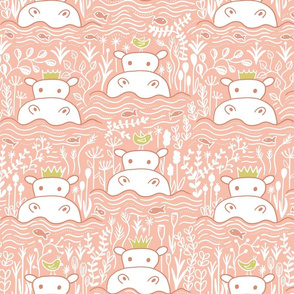 Hippo Swimmers - Coral (s)