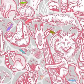 Kids Safari Adventure Small | Pink