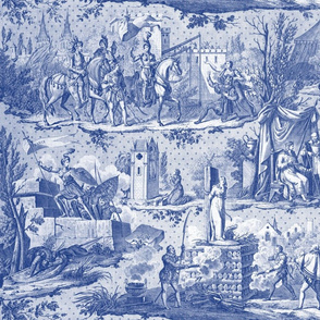 Jeanne d'Arc Toile  ~ Willow Ware Blue and White