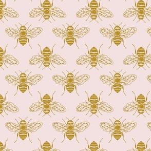 Honeybees on Pink