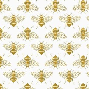 Honeybees on White