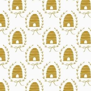 Honey Bee Hives - Yellow & White