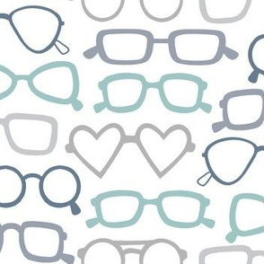 Glasses - multi color on white