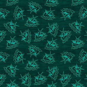 Free Spirited Sparrow - Teal Small