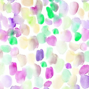 Rainbow watercolor mess of stains - brush strokes colorful spots
