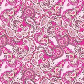 Paisley-sixties-hippie-swirl-hot-pink-VERY SMALL