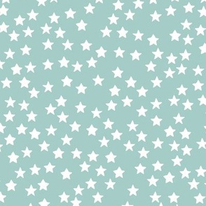 Little sparkly stars romantic boho night basic sky design nursery neutral cool blue white MEDIUM