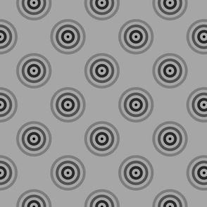 Geometric Pattern: Rondel: Strobe: Black Silver